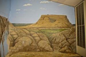 Dig site mural